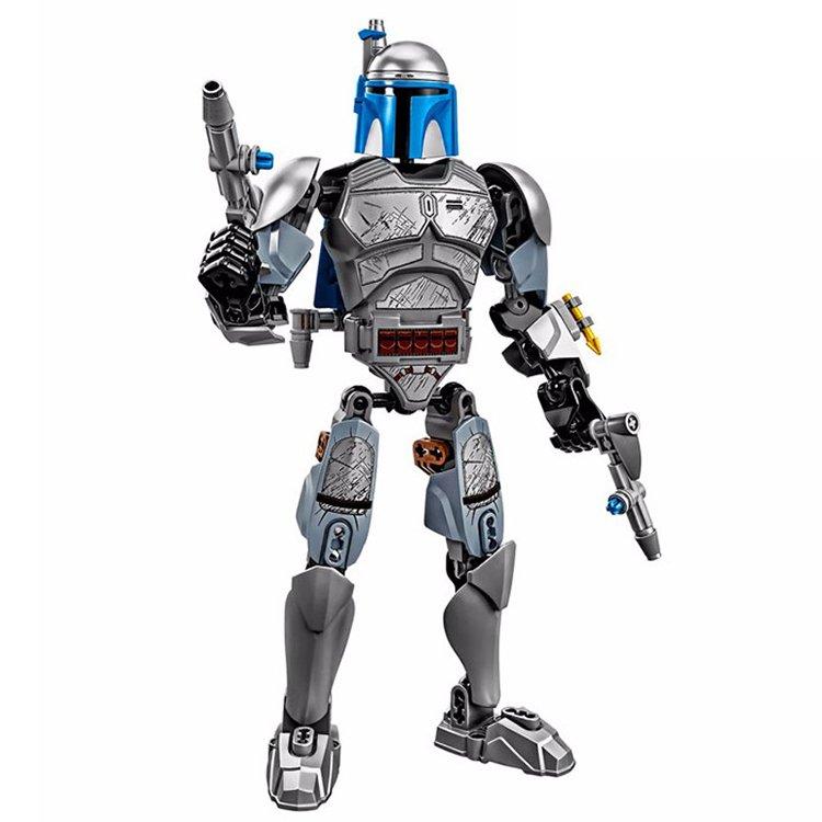 Star Wars Jango Fett Bounty Hunter Jedi Space Warrior Figure Lego Compatible Toy