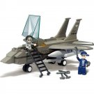 Military Army Battle Missile Fighter Jet Plane Pilot Lego Compatible Toy
