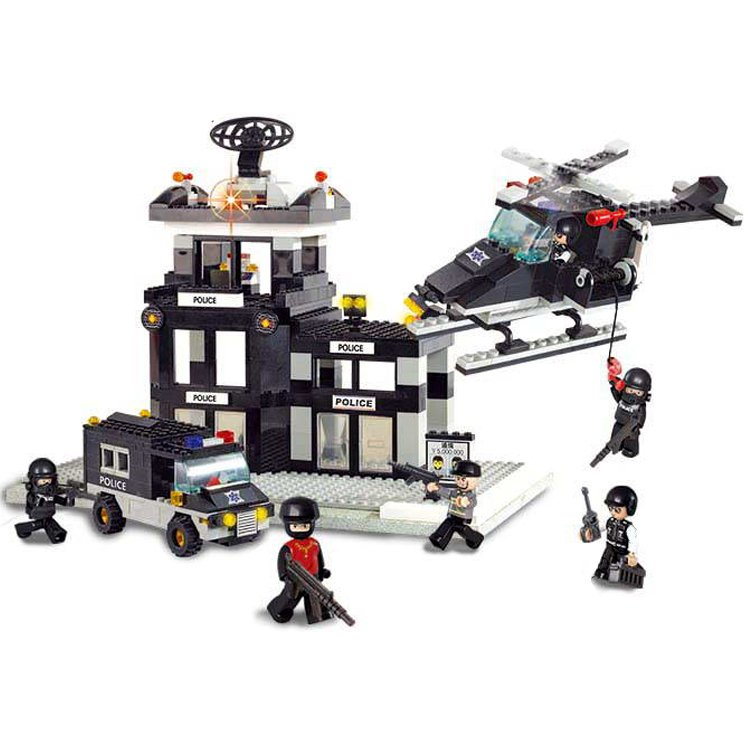 City Police Swat Precinct Training Station Camp Lego Compatible Toy