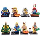 Super Hero Spongebob Squarepant Cartoon Minifigure Compatible Lego Toy