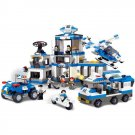 Police Station Prisoner Jail Helicopter Car Lego Compatible Toy