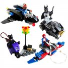 Super Hero Baman Spiderman Aircraft Car Minifigure Compatible Lego Toy Set