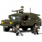 Military Army War Battle SUV Hummer Transport Soldier Lego Compatible Toy