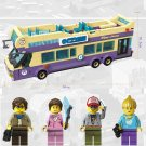 Vacation City Sightseeing Tour Double Deck Bus Car Lego Compatible Toy