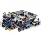 City Formula Prix Indy Racer Car Factory Garage Pit Lego Compatible Toy