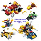 X-men Ironman Hulk Thor Wolverine Motorcycle Bike Minifigure Lego Compatible Toy