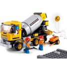 Road Construction Cement Loader Mixer Vehicle Worker Lego Compatible Toy