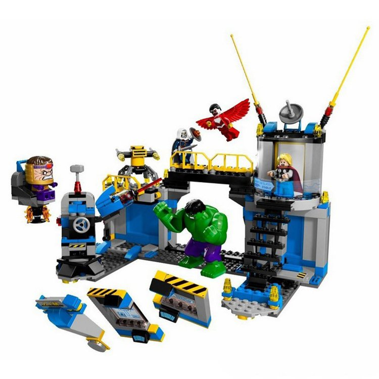 Hulk Lab Smash Thor Modok Falcon Taskmaster Hero Minifigure Lego Compatible Toy