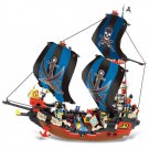 Caribbean Pirates Ship Boat Treasure Hunt Castle Lego Compatible Toy