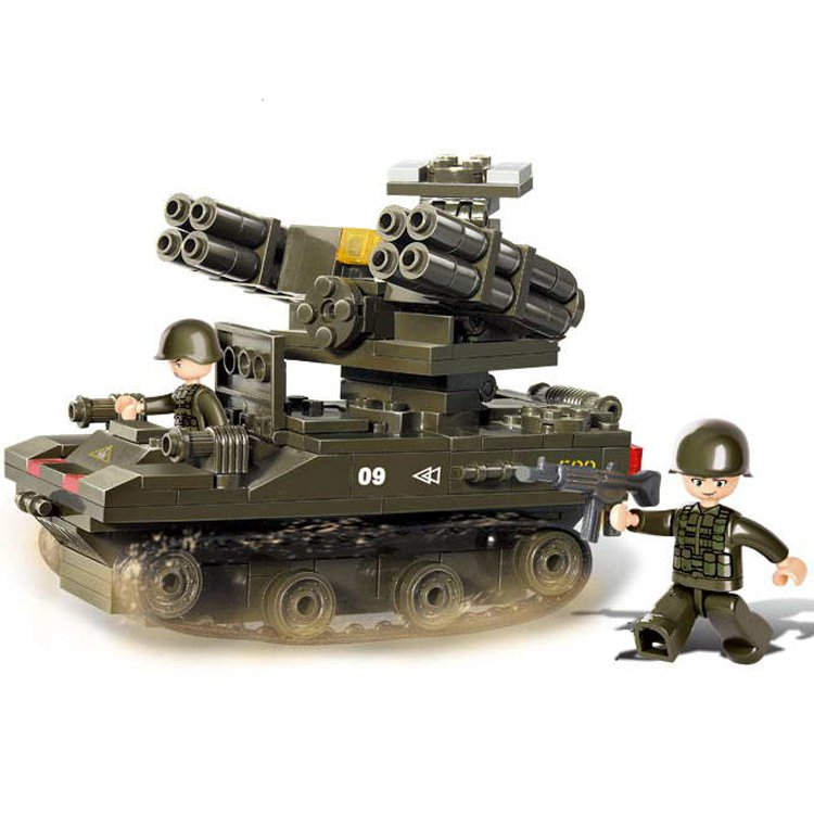 Military Army Battle Missile Launcher Tank Vehicle Lego Compatible Toy