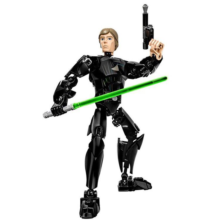 Star Wars Lego Compatible Toy Luke Skywalker Jedi Warrior Light Saber Figure