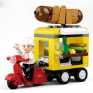 Hot Dog Stand Motrobike Bike Food Trailer Wagon Stand Lego Compatible Toy