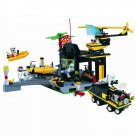 Marine Police Station Patrol Helicopter Speed Boat Lego Compatible Toy