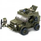 Military Army Battle War Car Jeep Machine Gun Soldier Lego Compatible Toy