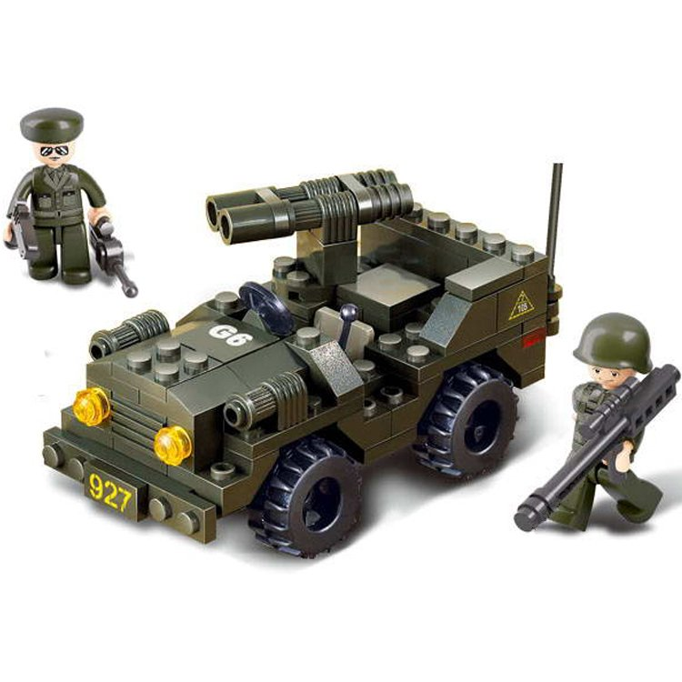 Army Military Battle Machine Gun Jeep Hummer Soldier Lego Compatible Toy
