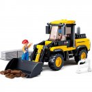 Construction Bulldozer City Road Vehicle Worker Lego Compatible Toy