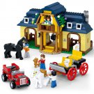 Lego Farm Compatible Toy Construction Ranch House Building Horse Chariot