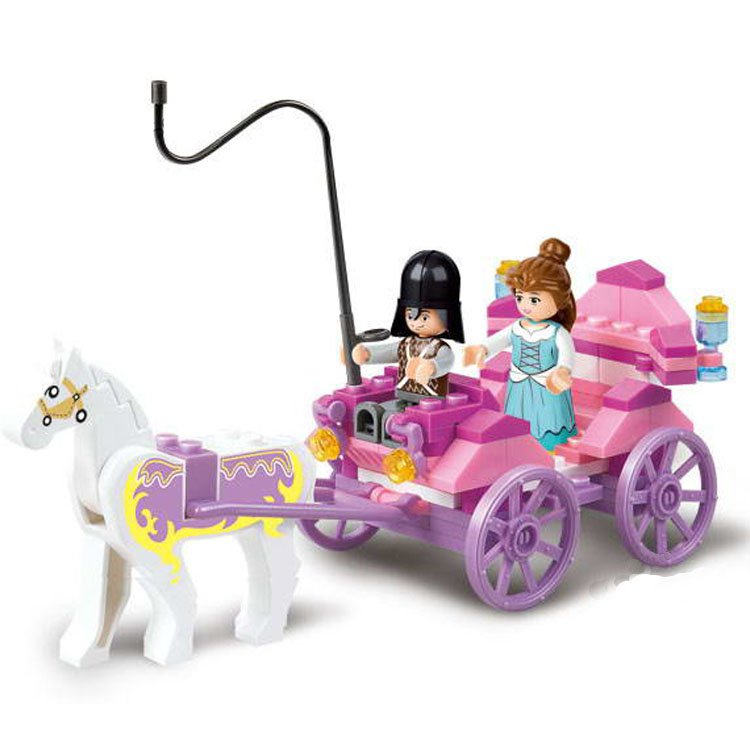 Castle Medieval Princess Knight Army Horse Chariot Lego Compatible Toy