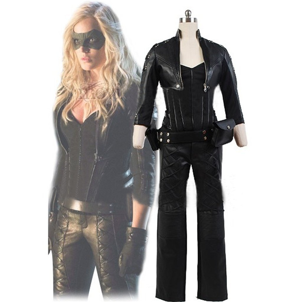 Green Arrow Black Canary Sara Lance Women's and Men's Costume  Outfit Black Mask