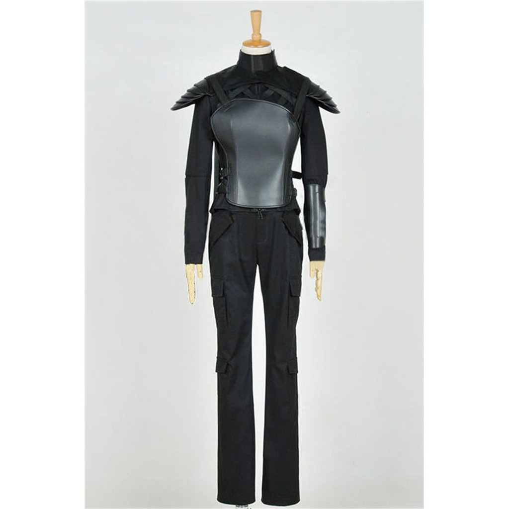 The Hunger Games Mockingjay Katniss Everdeen Leather Cosplay Costume Women's Outfit