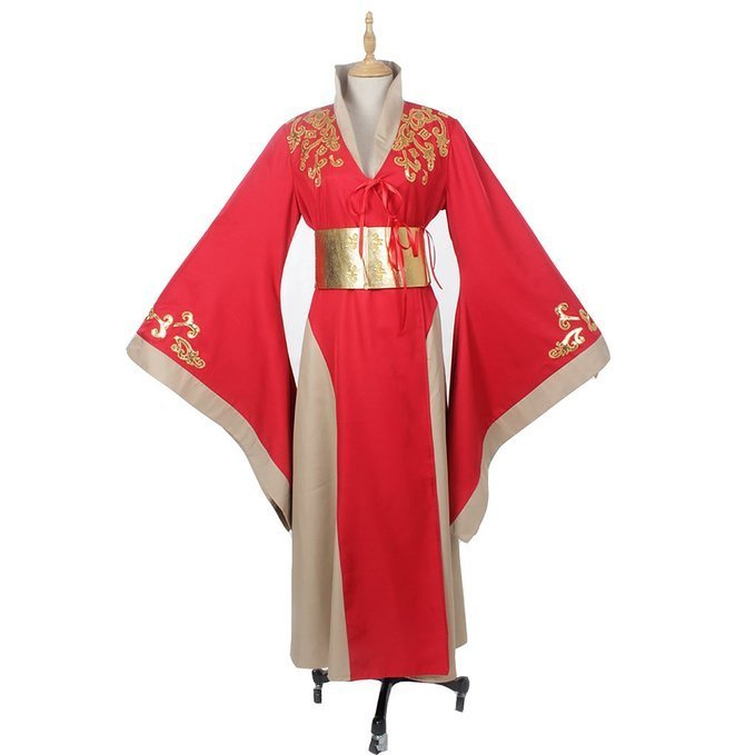 CosplayDiy Women's Game of Thrones Queen Cersei Lannister Costume Red Dress Cosplay
