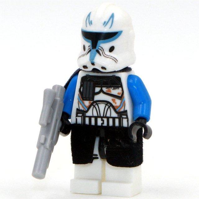 Lego Star Wars Minifigure Compatible New Captain Rex  Minifigure Toys