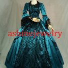 Women's Cosply Part Blue Rococo Baroque Dress Medieval Victorian Dress for Female
