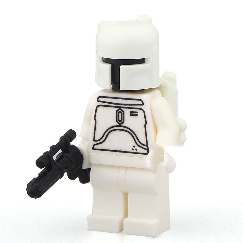 Star Wars minifigure White Boba Fett Lego minifigure Compatible toys