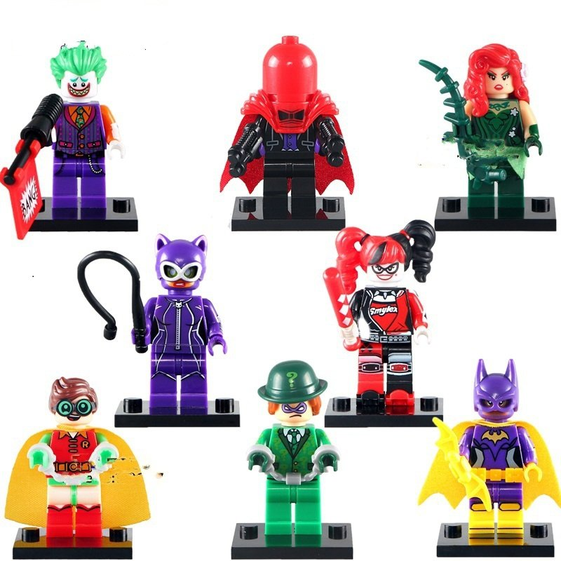 Batman Movie Red Hood Poison Ivy Robin Minifigure Lego Compatible Toys