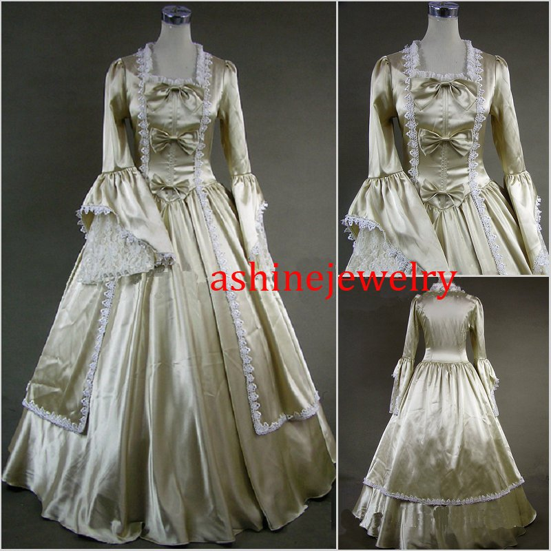 Women's Cosplay Dress Rococo Baroque Ball Gown Victorian Champagne Party Dress Gift Idea