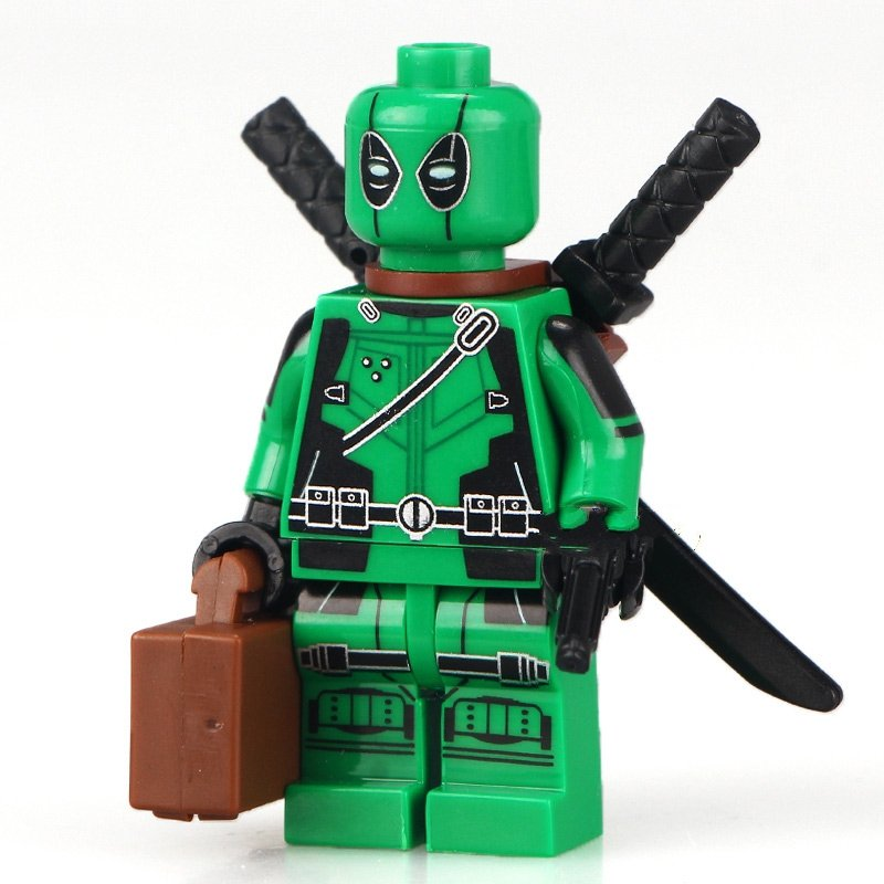 Green Deadpool Minifigure Marvel super heroes Lego Compatible Toy