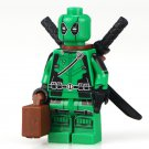 Green Deadpool Minifigure Marvel super heroes Lego Compatible Toy