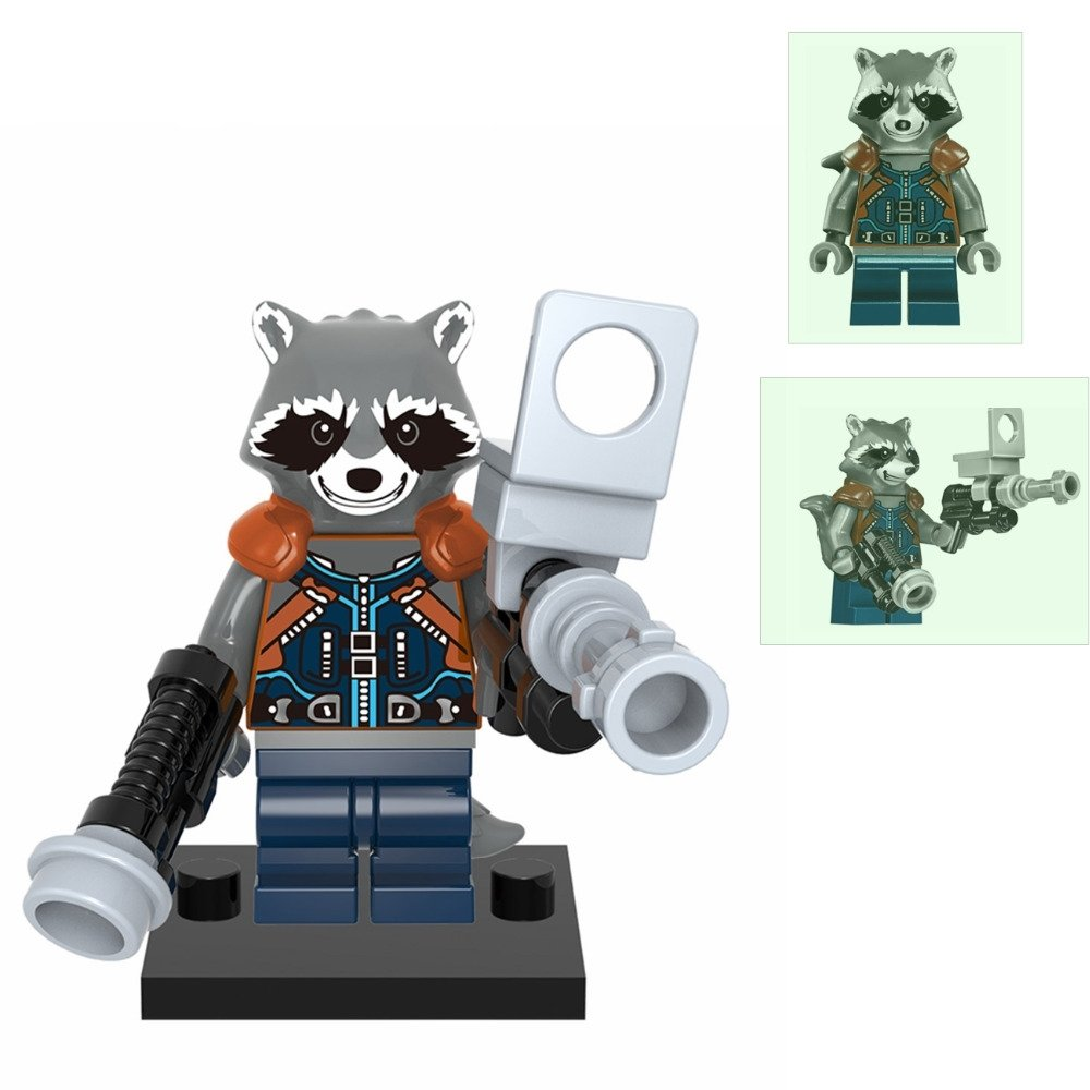 Rocket Racoon typeB Guardians of the Galaxy Minifigure Lego Compatible Toy