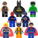 Lego Super Hero Compatible Minifigur Marvel Superman/Spider-Man/Hulk/Batman Toy