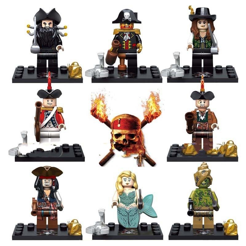 Pirates Of The Caribbean Lego Minifigure Compatible Toy Mermaid JACK