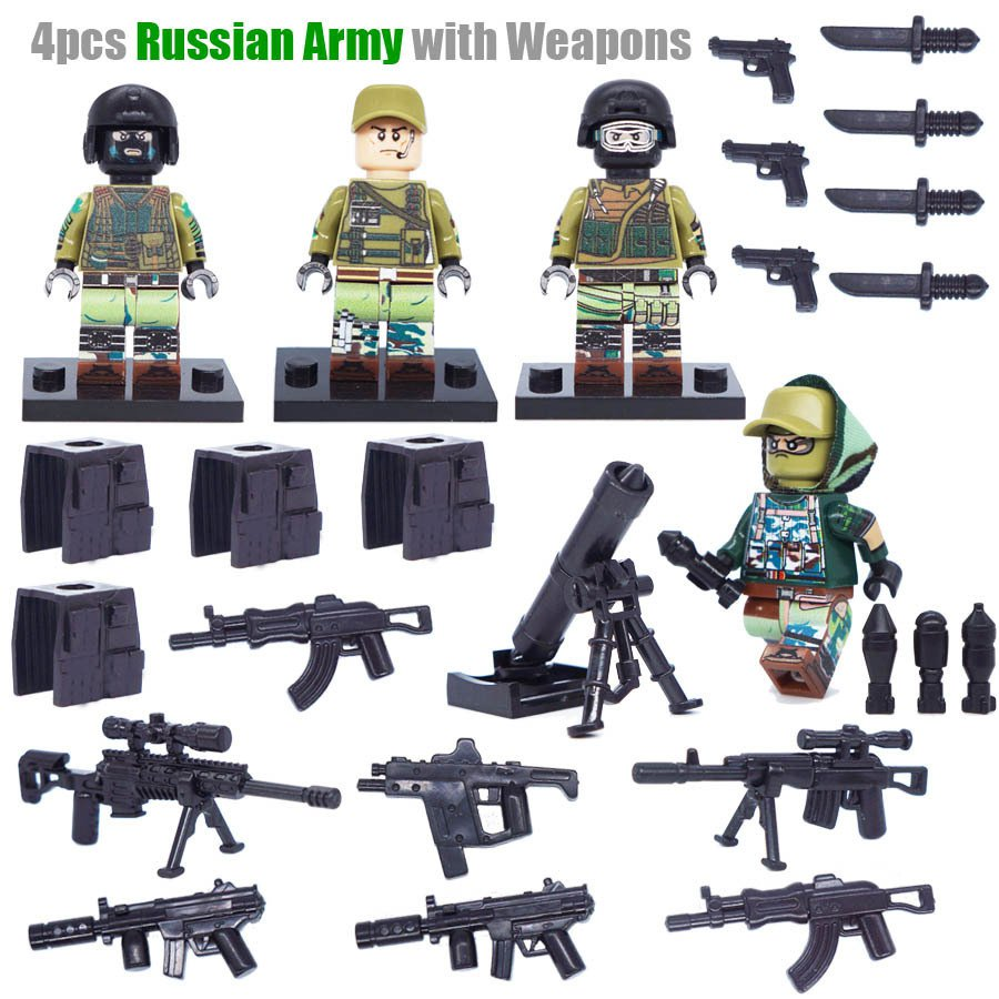 World War 2 Russian Army Weapons Minifigures Lego Compatible Toys