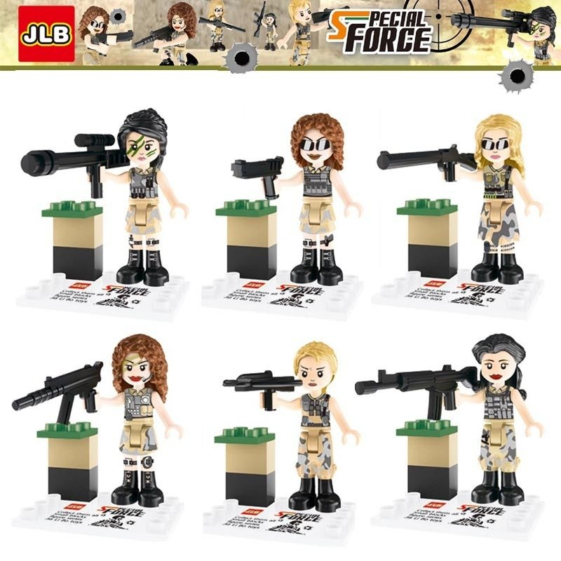World War 2 II Lego Compatible Special Female Army Minifigures
