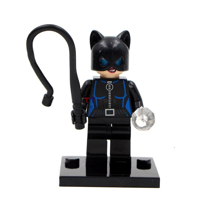 Cat Woman DC Super Heroes Minifigures Lego Compatible Toy