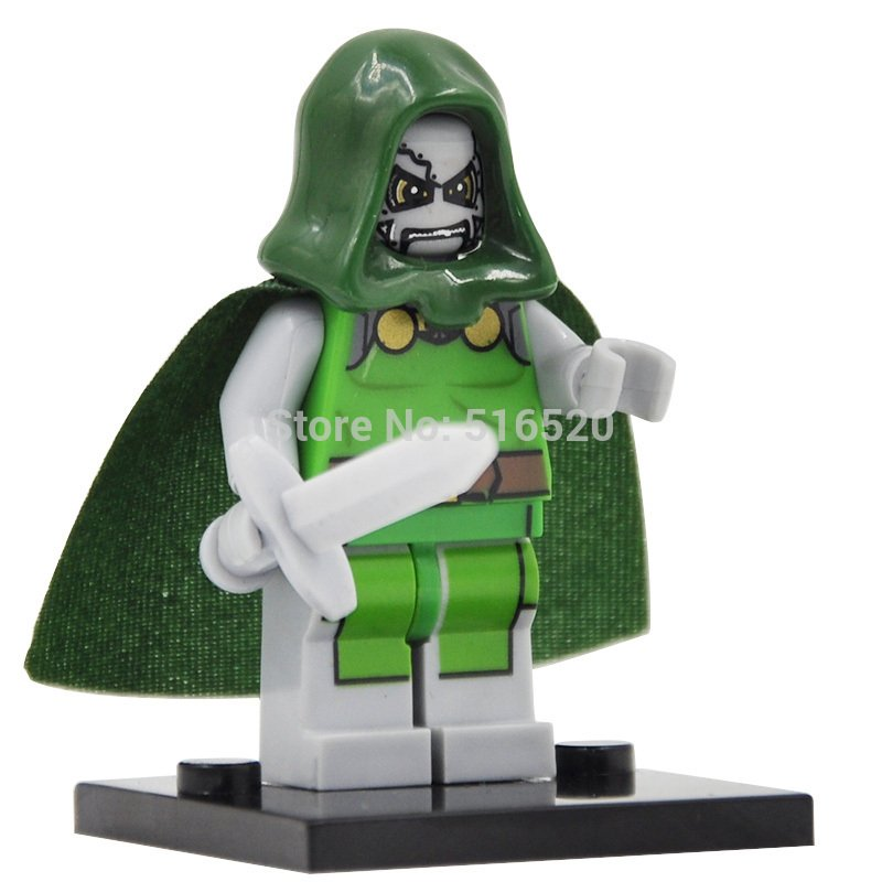 Doctor Doom Marvel Fantastic Four Lego Minifigures Compatible Toy