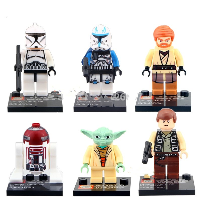 Star Wars Old Version Clone Troopers Minifigure Lego Compatible Toy