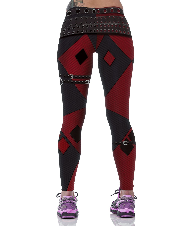 2017 Woman Harley Quinn Running Fitness Capris Pants Sports Tights Yoga Leggings