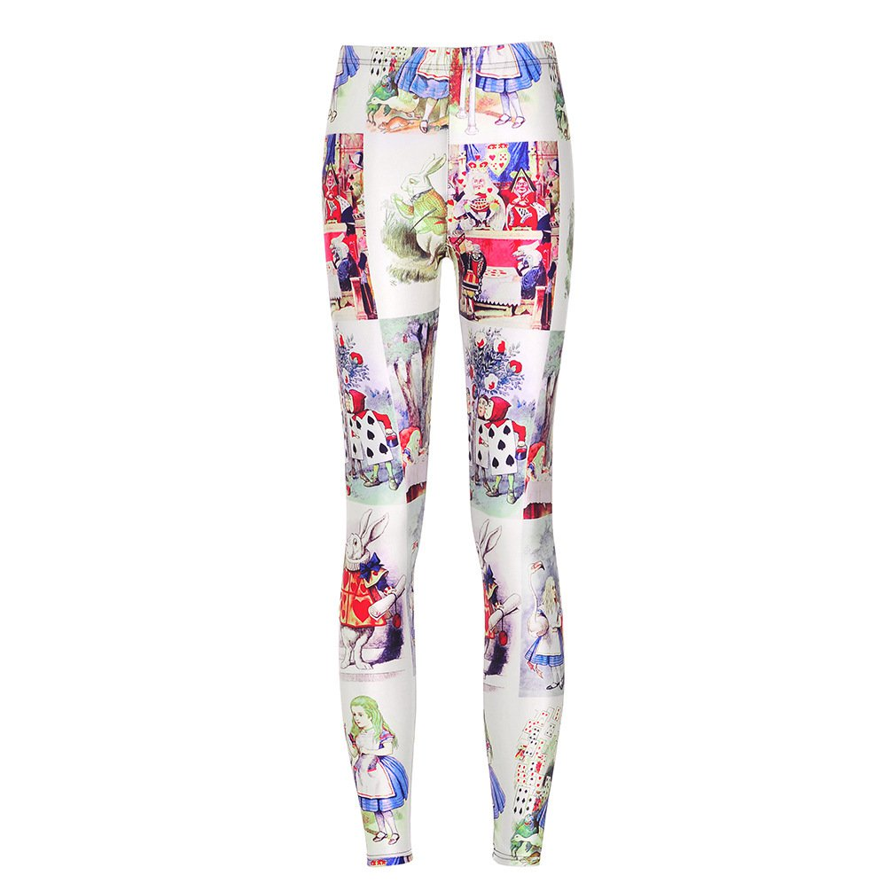 Cartoon Alice Pants Cheshire Cat Sports Tight Alice Adventure in Wonderland Legz