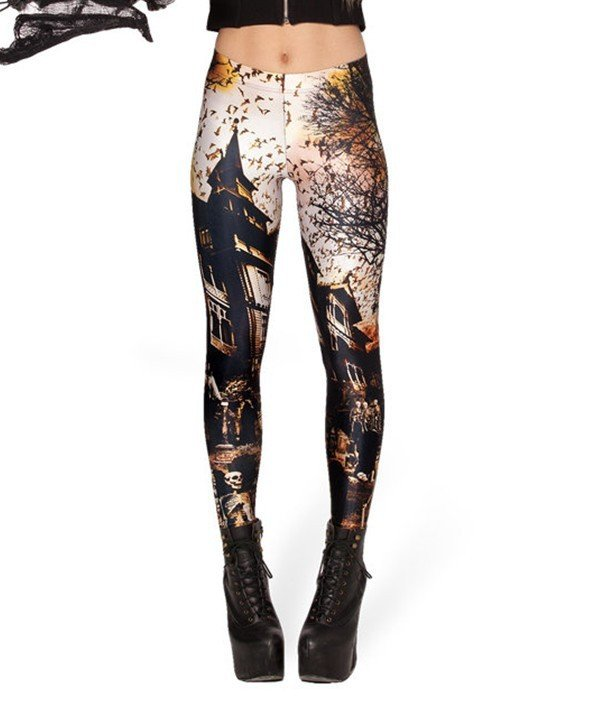 Ancient Castle Fitness Spandex Leggings Halloween