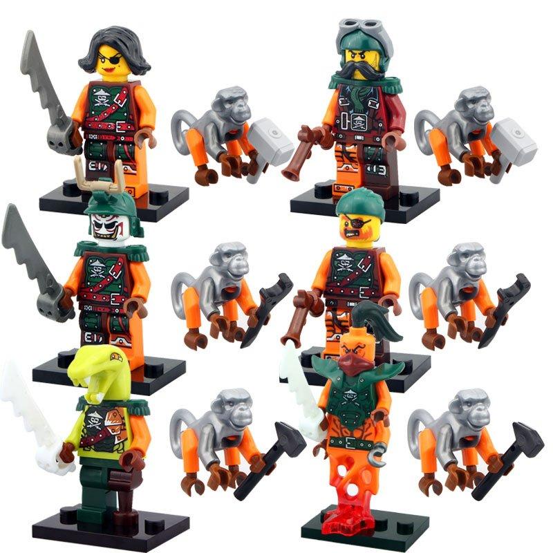 Ninja Cyren Doubloon Nadakhan Minifigure Lego Compatible Toys