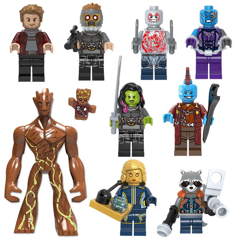 Guardians of the Galaxy set Minifigure Lego Compatible Toy