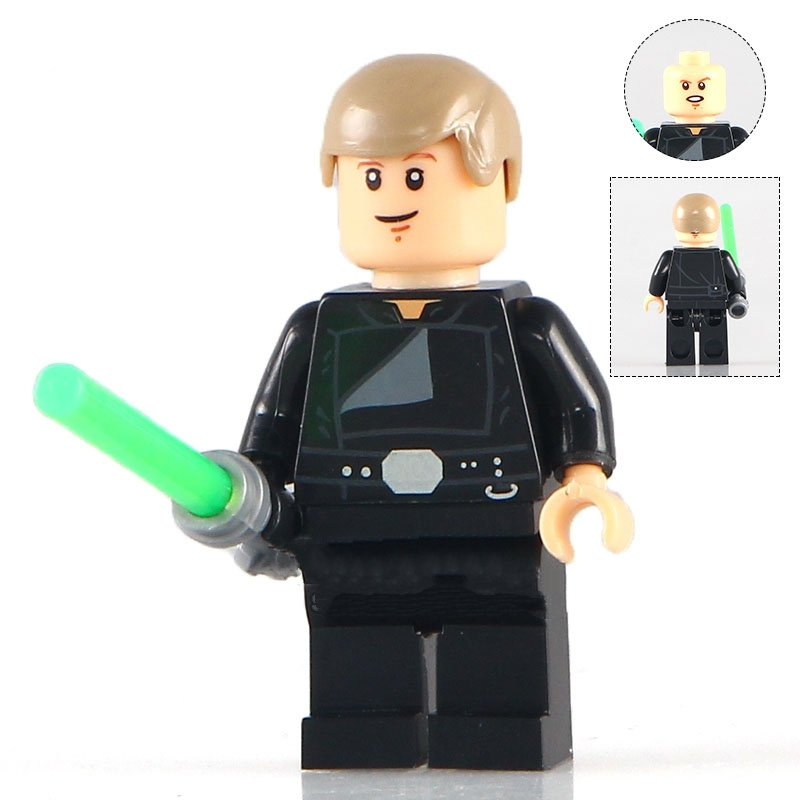Luke Skywalker Green Lightsaber Star Wars Minifigure Lego Compatible Toys