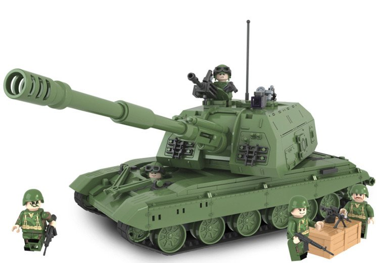 Russian 2S19 Military Model Self-propelled Howitzer Marine Hero Legoe Compatible Toy