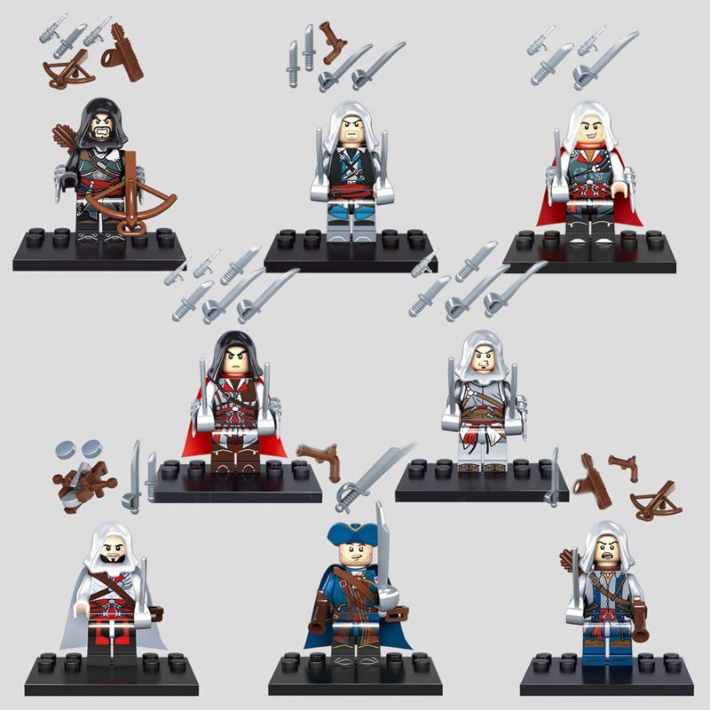 Movie Assassins Creed with weapons Lego Minifigure Compatible Toys