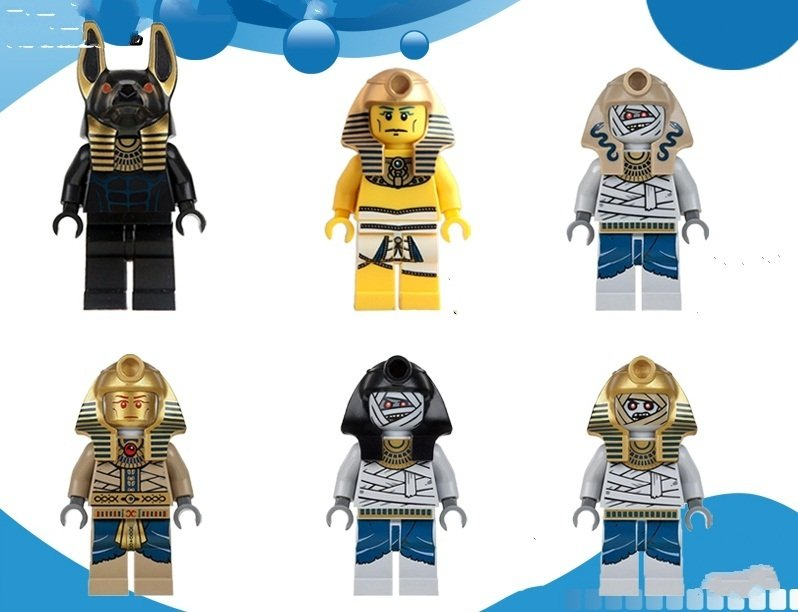 Pharoah Mummy Warrior Egyptian medieval Lego Minifigure Compatible toy