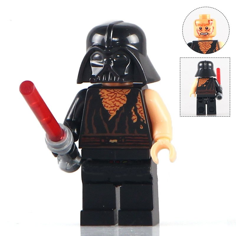 Battle Damaged Anakin Skywalker Star Wars Minifigure Lego Compatible Toy